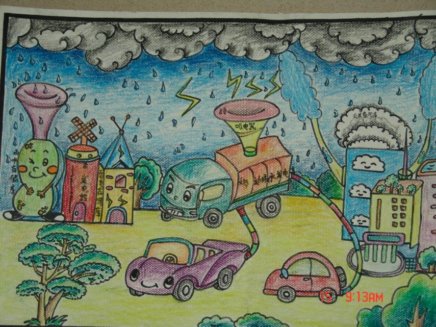 青少年科幻绘画作品图片